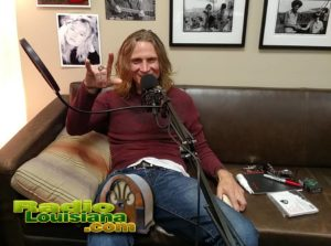 Michael Juan Nunez having fun during an interview at RadioLouisiana